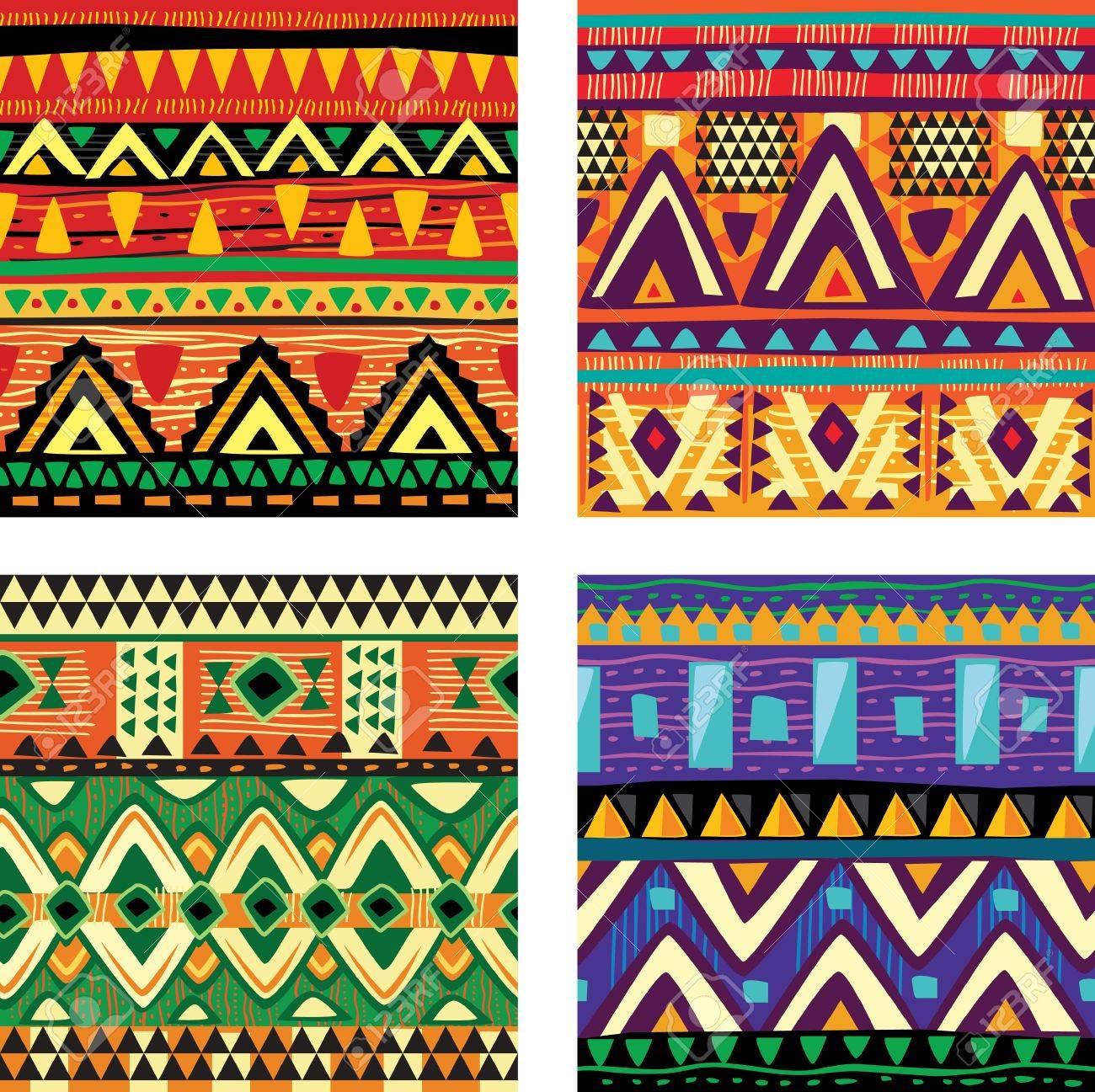 Seamless tribal texture - 18155899