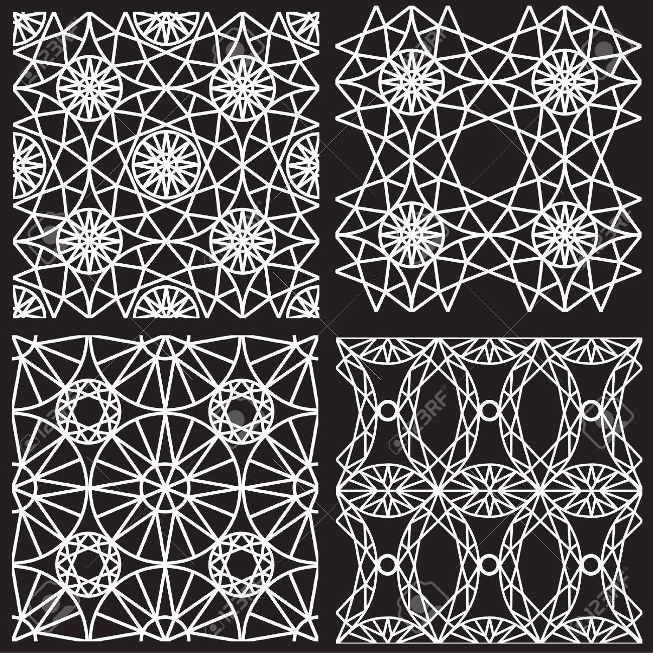 Seamless white pattern from diamond cutting - 18702429