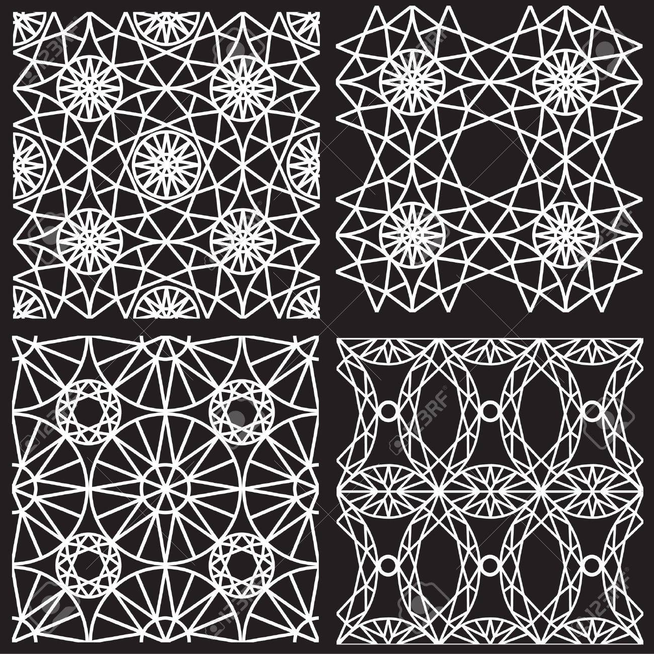 Seamless white pattern from diamond cutting Stock Vector - 18702429