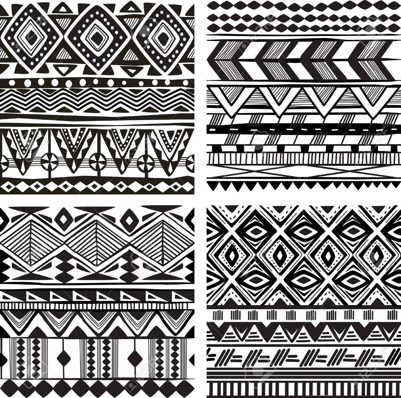 Seamless tribal texture - 20237025