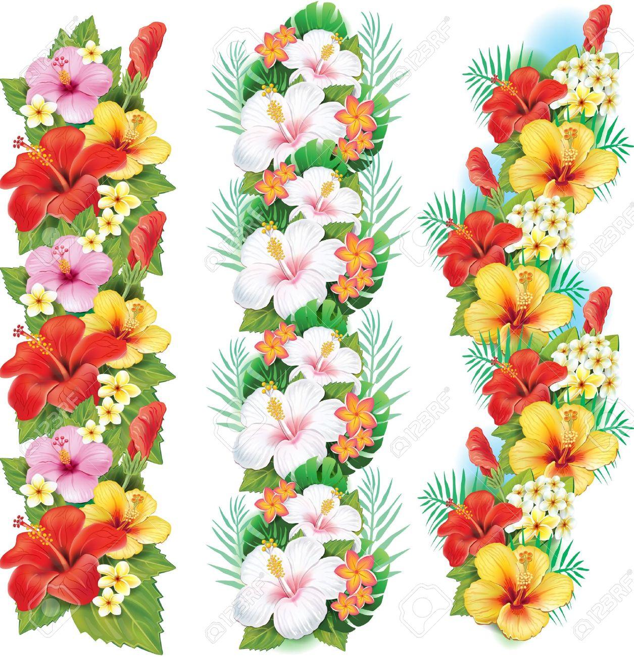 Garland of hibiscus flowers - 21670795