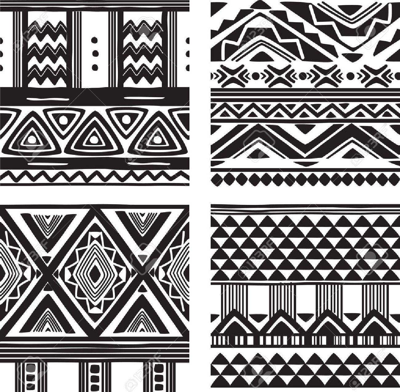 Set of tribal texture - 23019093