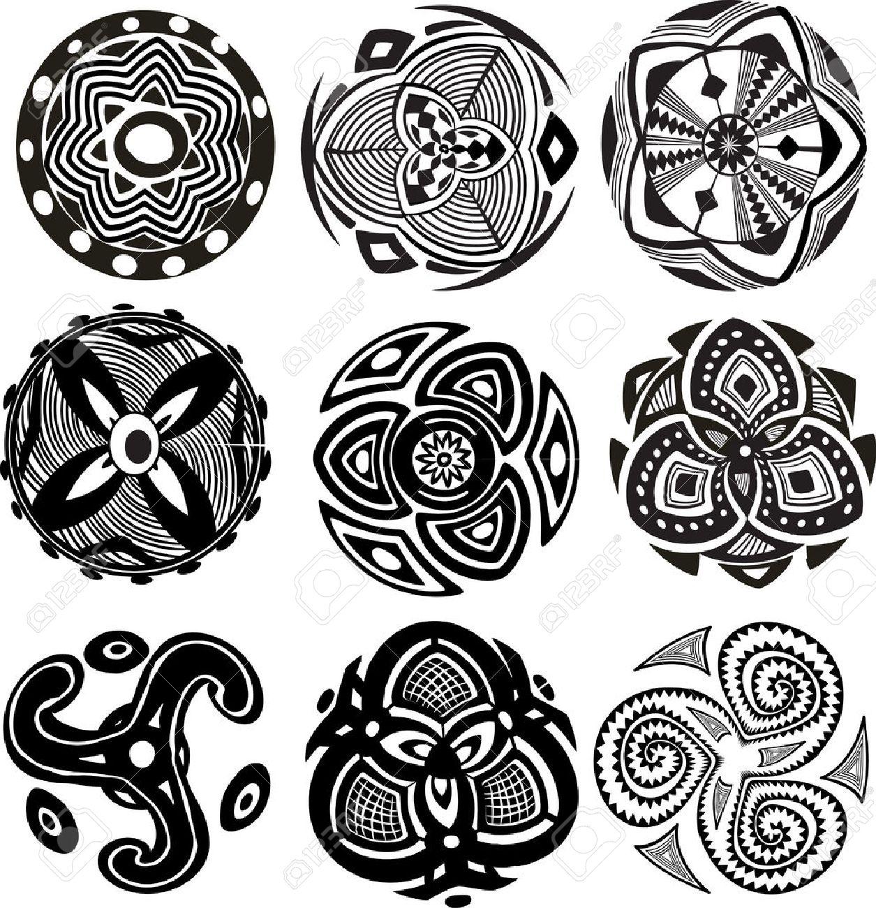 Round Ornament Pattern - 23288835