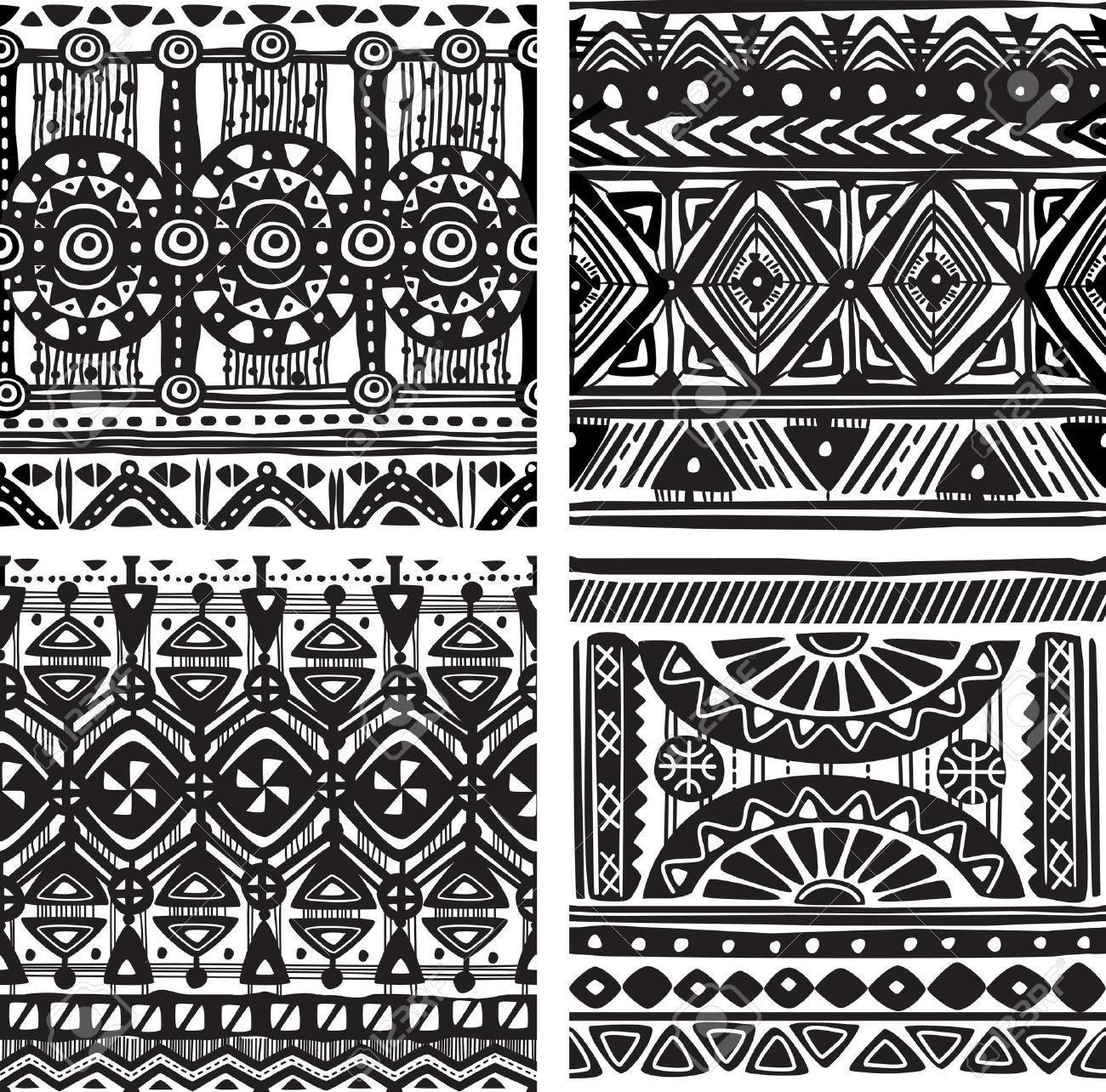 Seamless tribal texture - 23288834