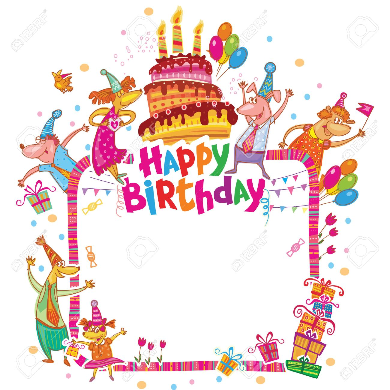 Happy Birthday Card With Place For Your Text Royalty Free Cliparts – Text for Birthday Card