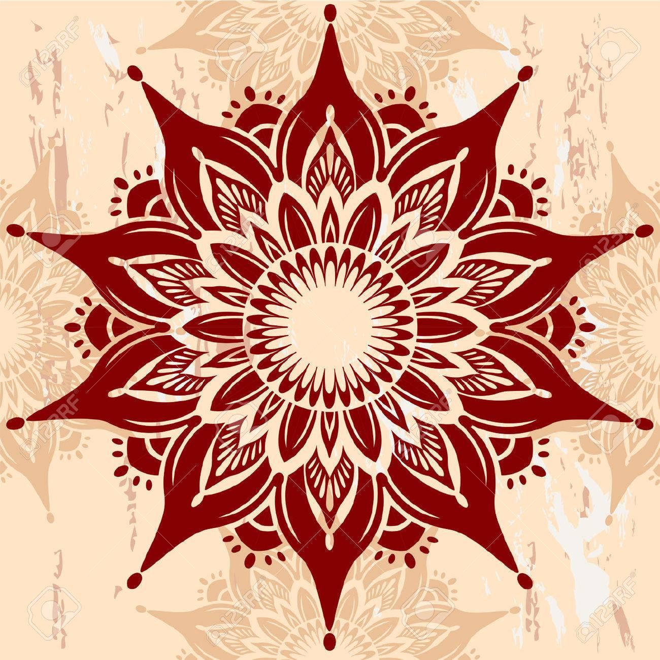 Mandala Round Ornament - 41533926