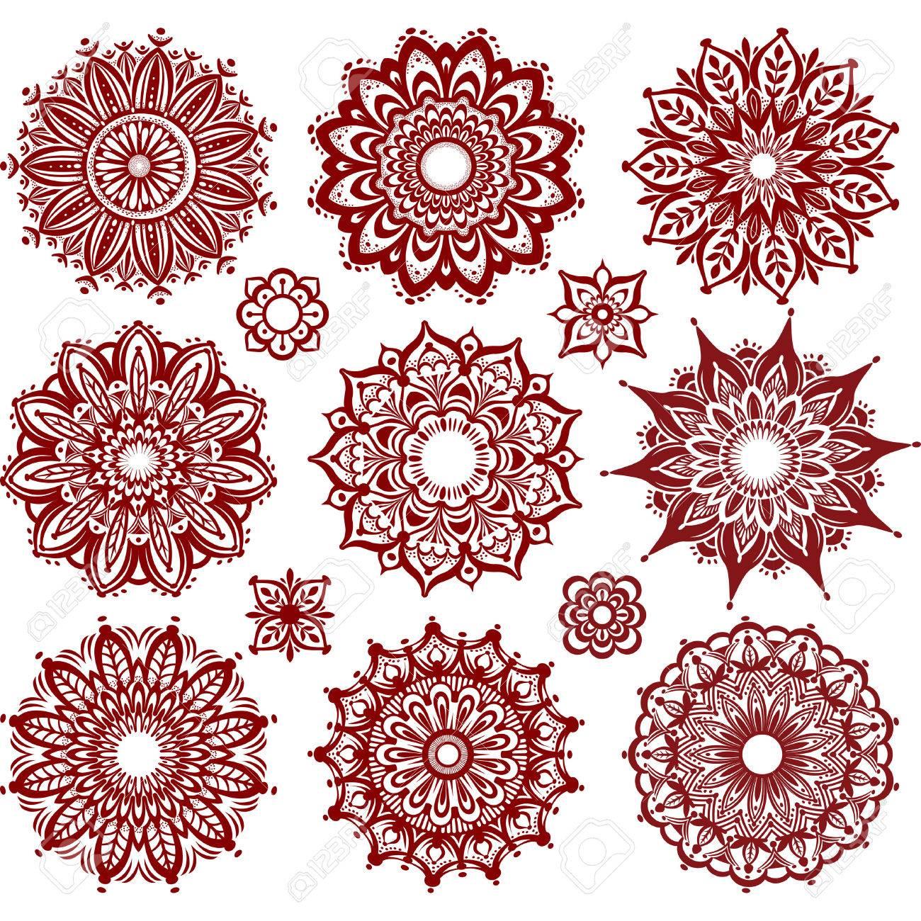 Set of Round Ornament Patterns - 41610732
