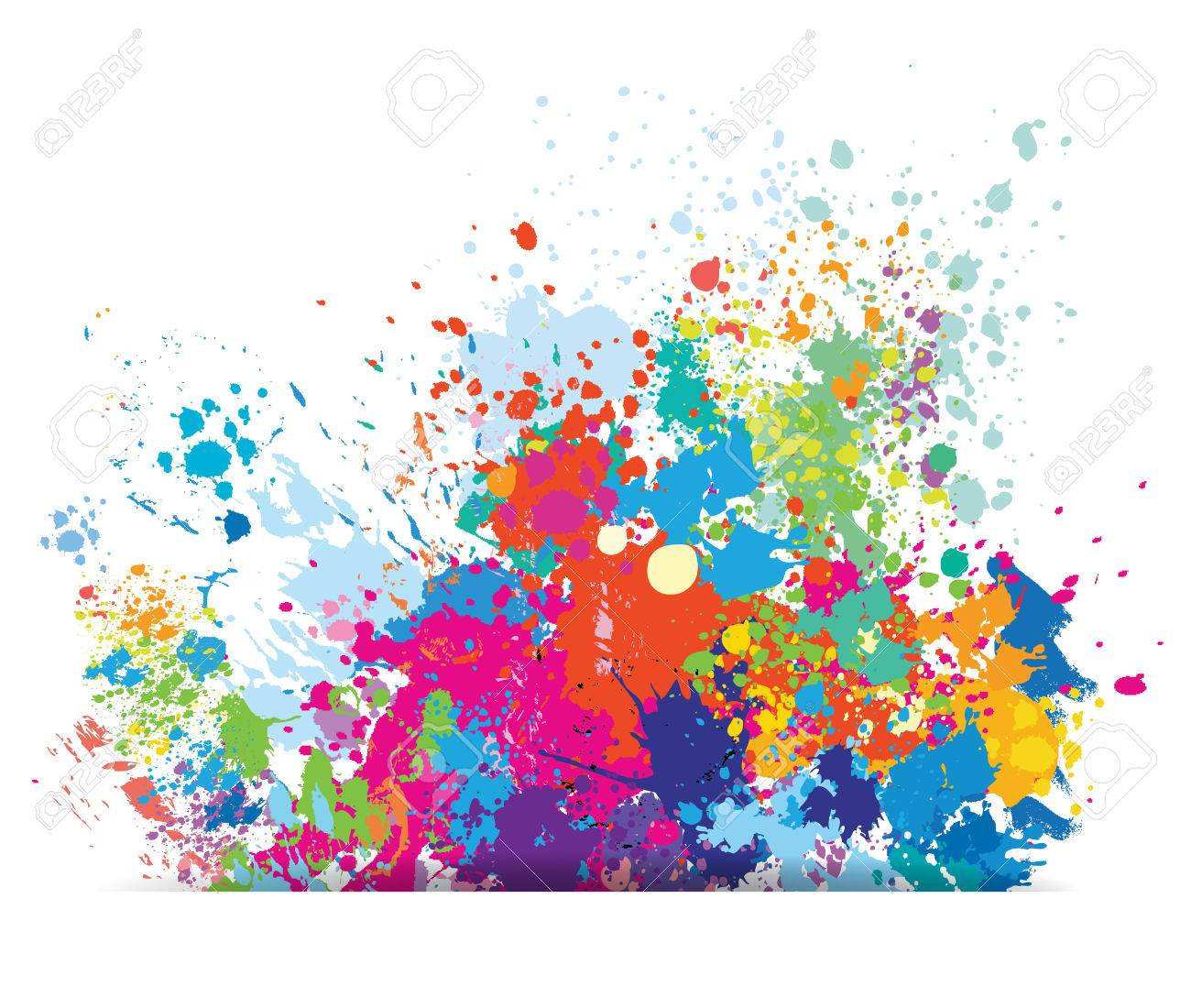 Color background of paint splashes - 52175913