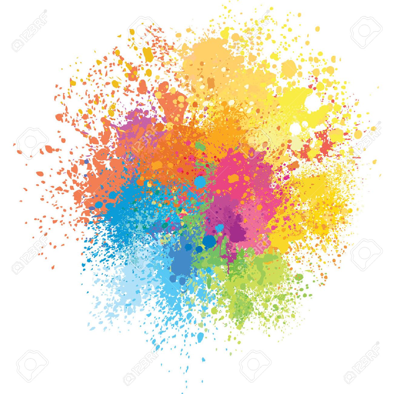 Color background of paint splashes - 52177490