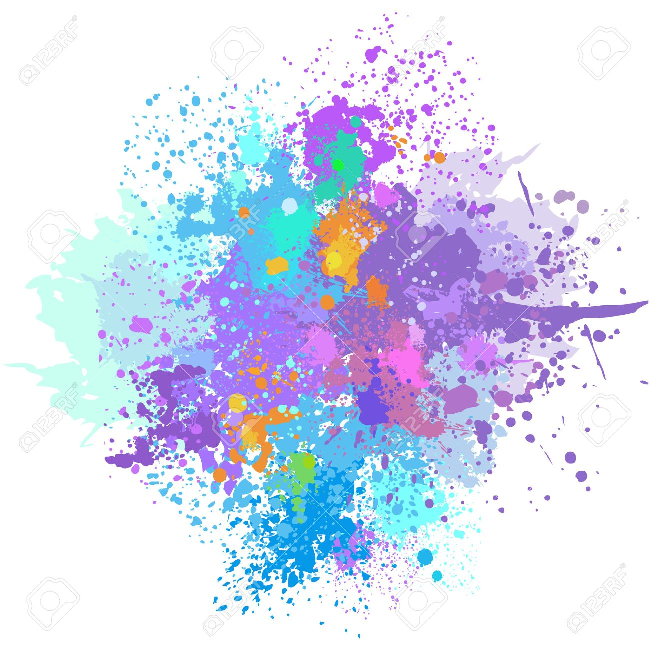 Color background of paint splashes - 52181244