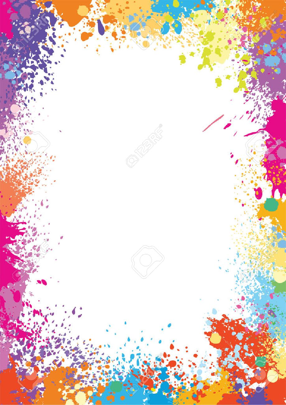 Frame template made of paint stains - 56750444