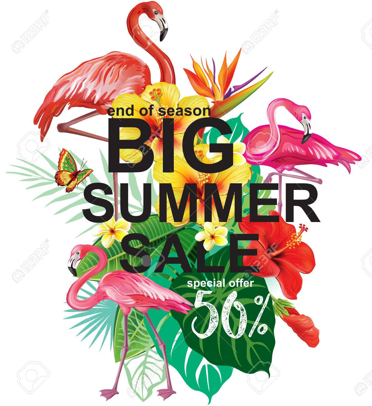 Template for summer sale Advertisement - 60980774
