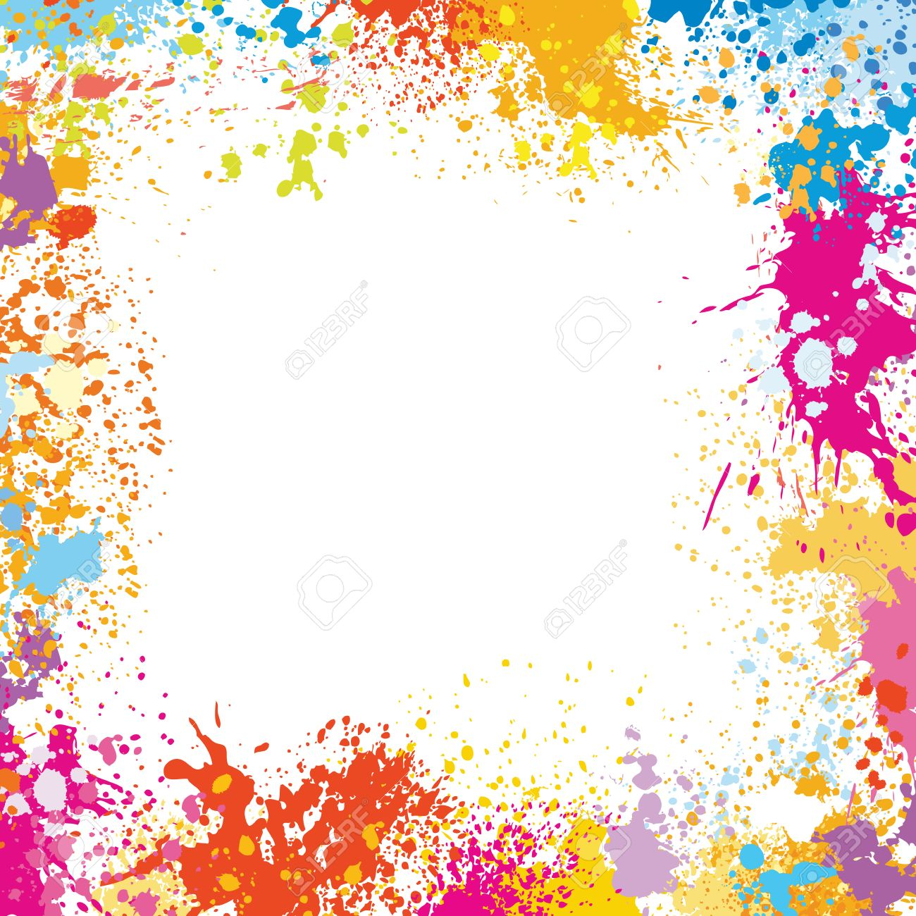 Frame Template Made Of Paint Stains Royalty Free Cliparts, Vectors ...