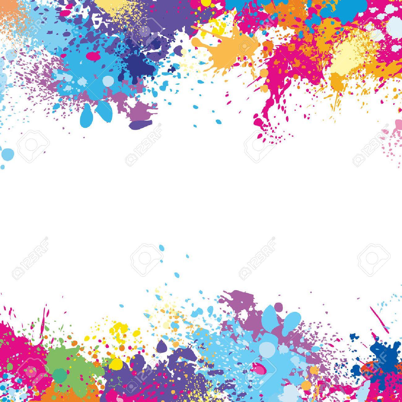 Modèle De Cadre En Taches De Peinture Clip Art Libres De Droits