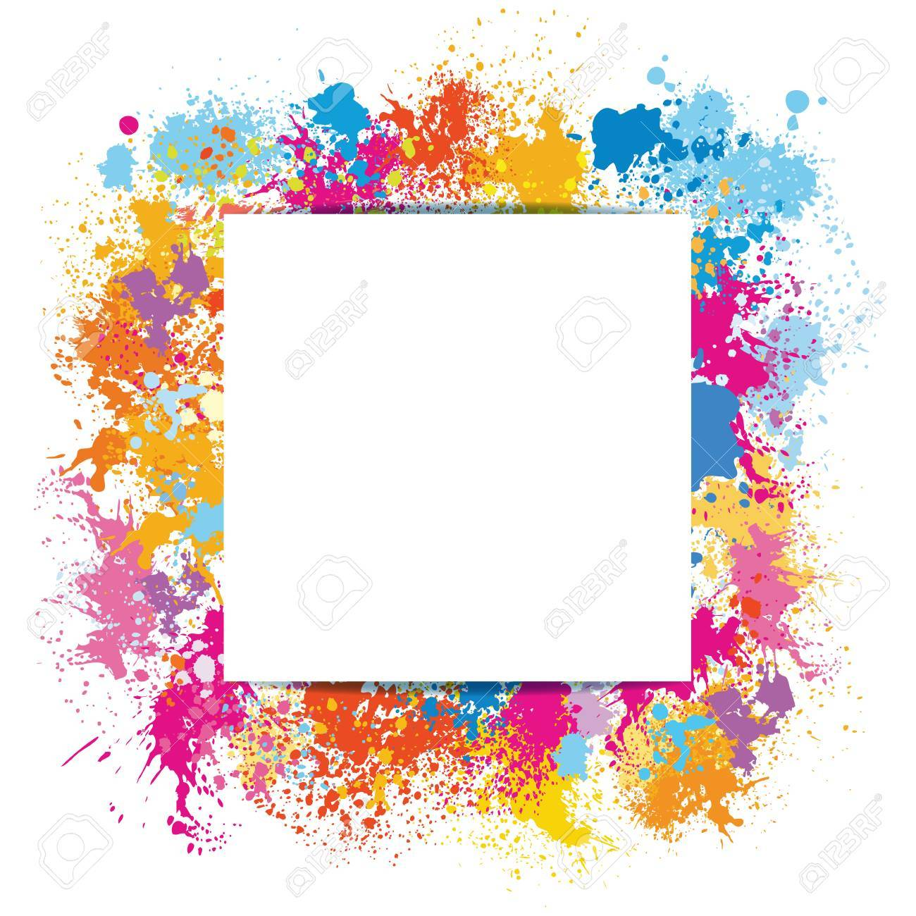 Frame template made of paint stains - 72446372