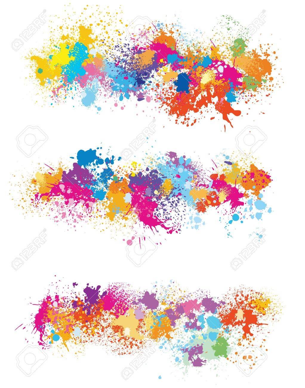 Les éléments De Conception De Taches De Peinture Clip Art Libres De