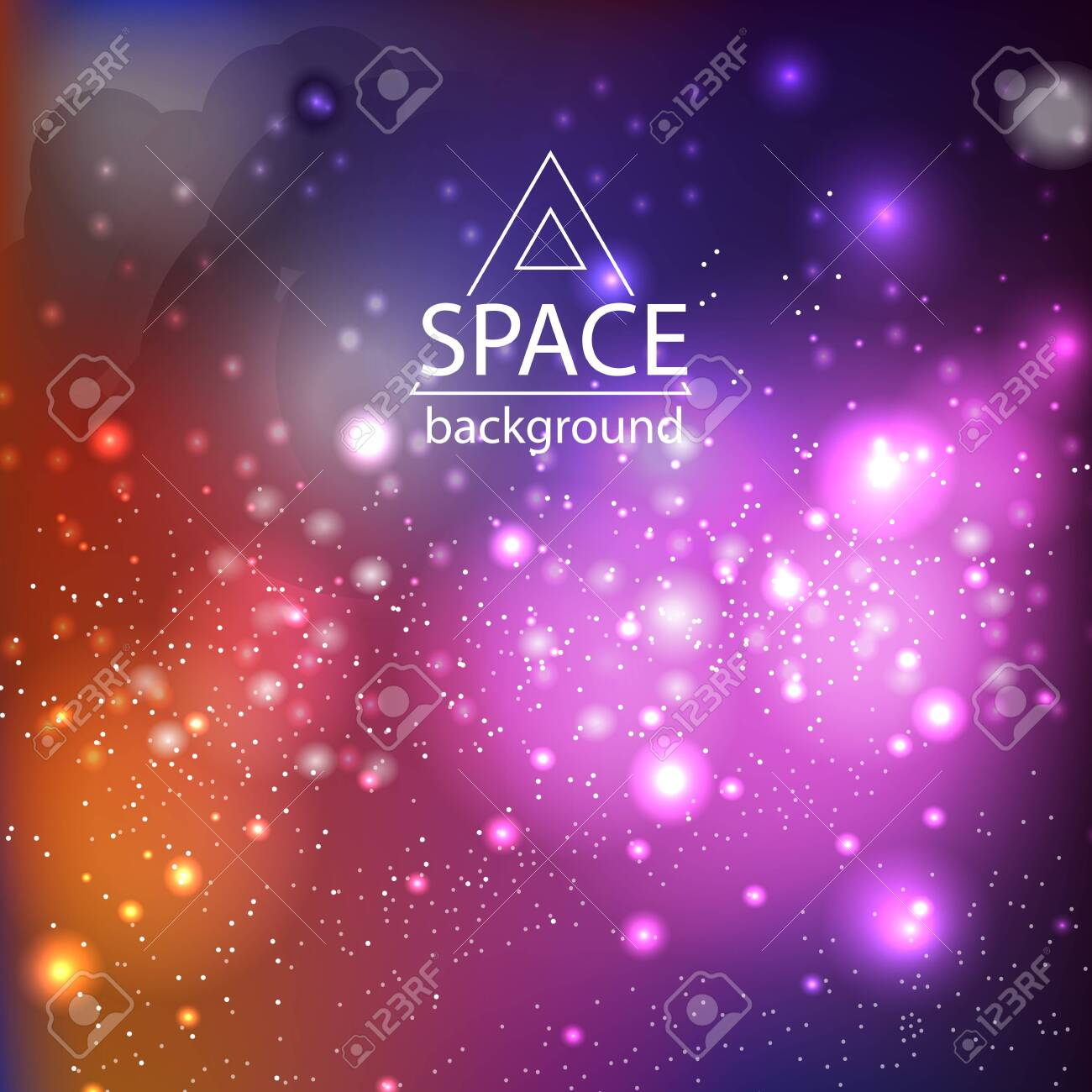 Abstract space galaxy background with cosmic light and stars - 135404272
