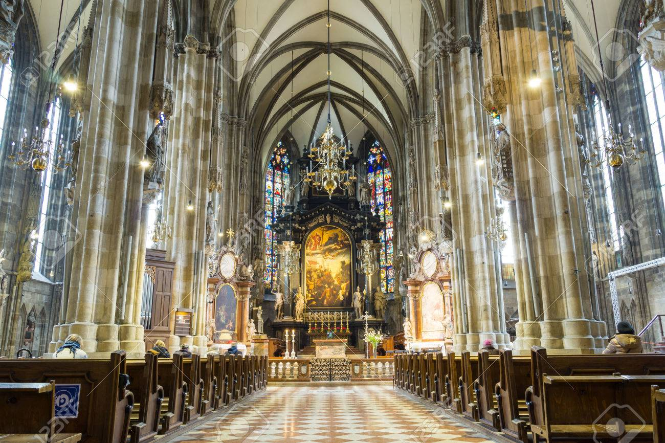 Peterskirche Or St Peter Church At Vienna Austria Stock Photo
