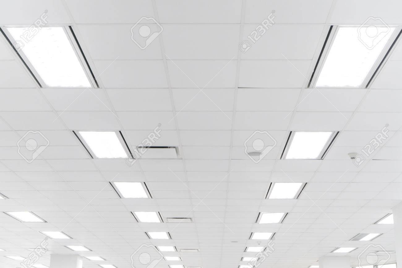 Futuristic Office Ceiling Stock Photo