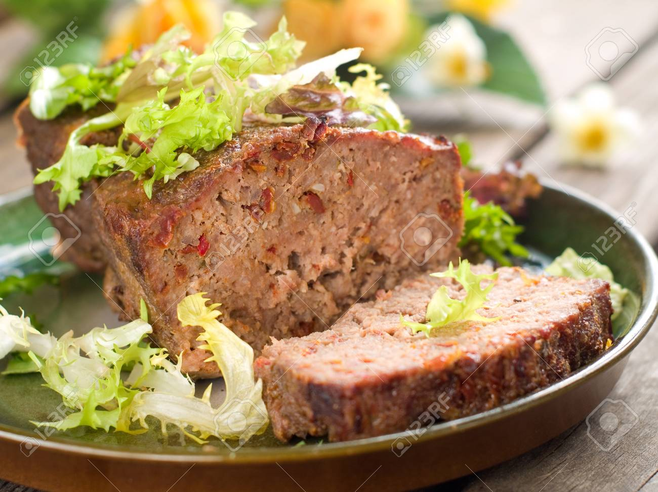 Meatloaf with spice for dinner, selective focus Stock Photo - 17331113