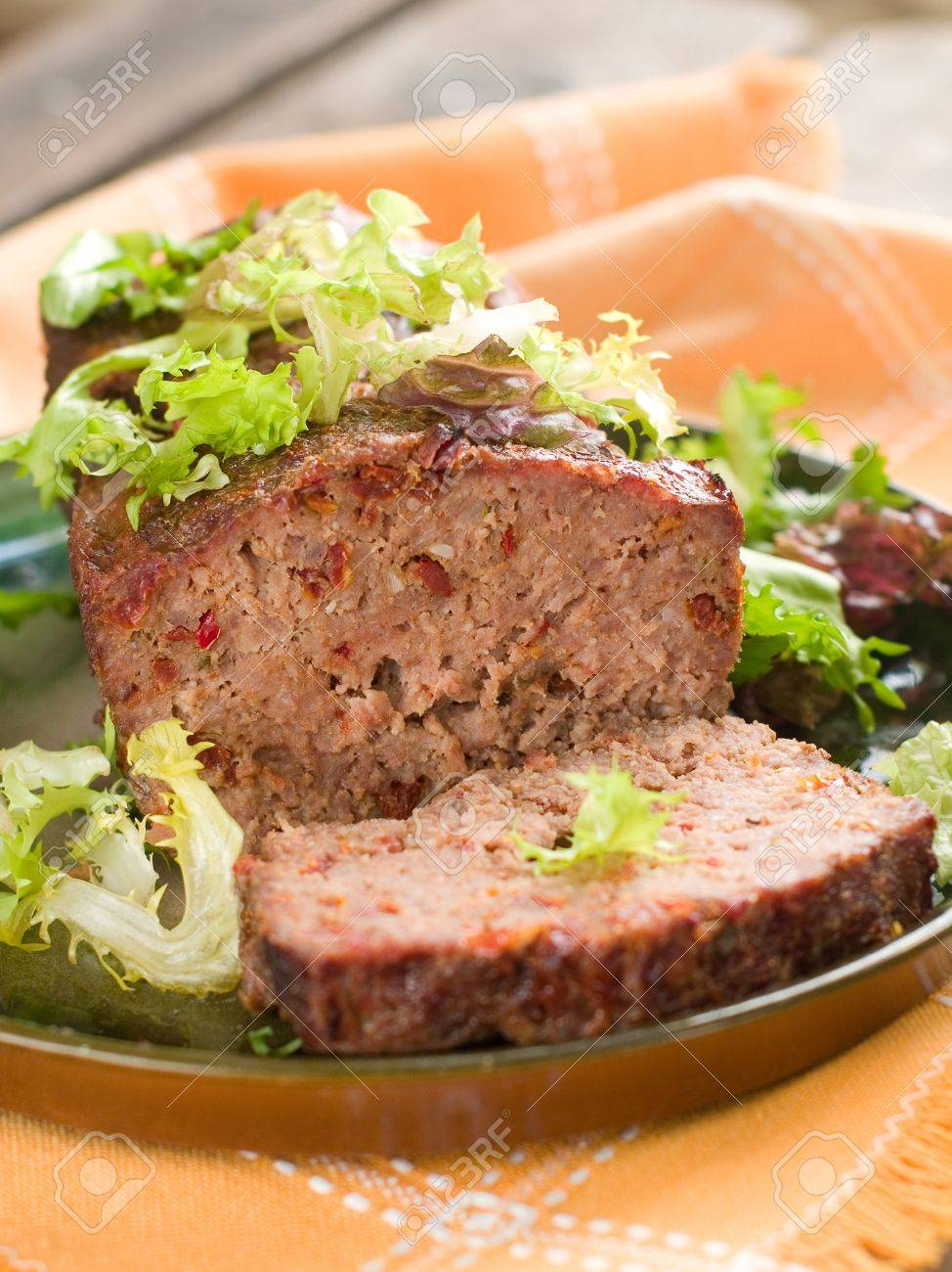 Meatloaf with spice for dinner, selective focus Stock Photo - 17379055
