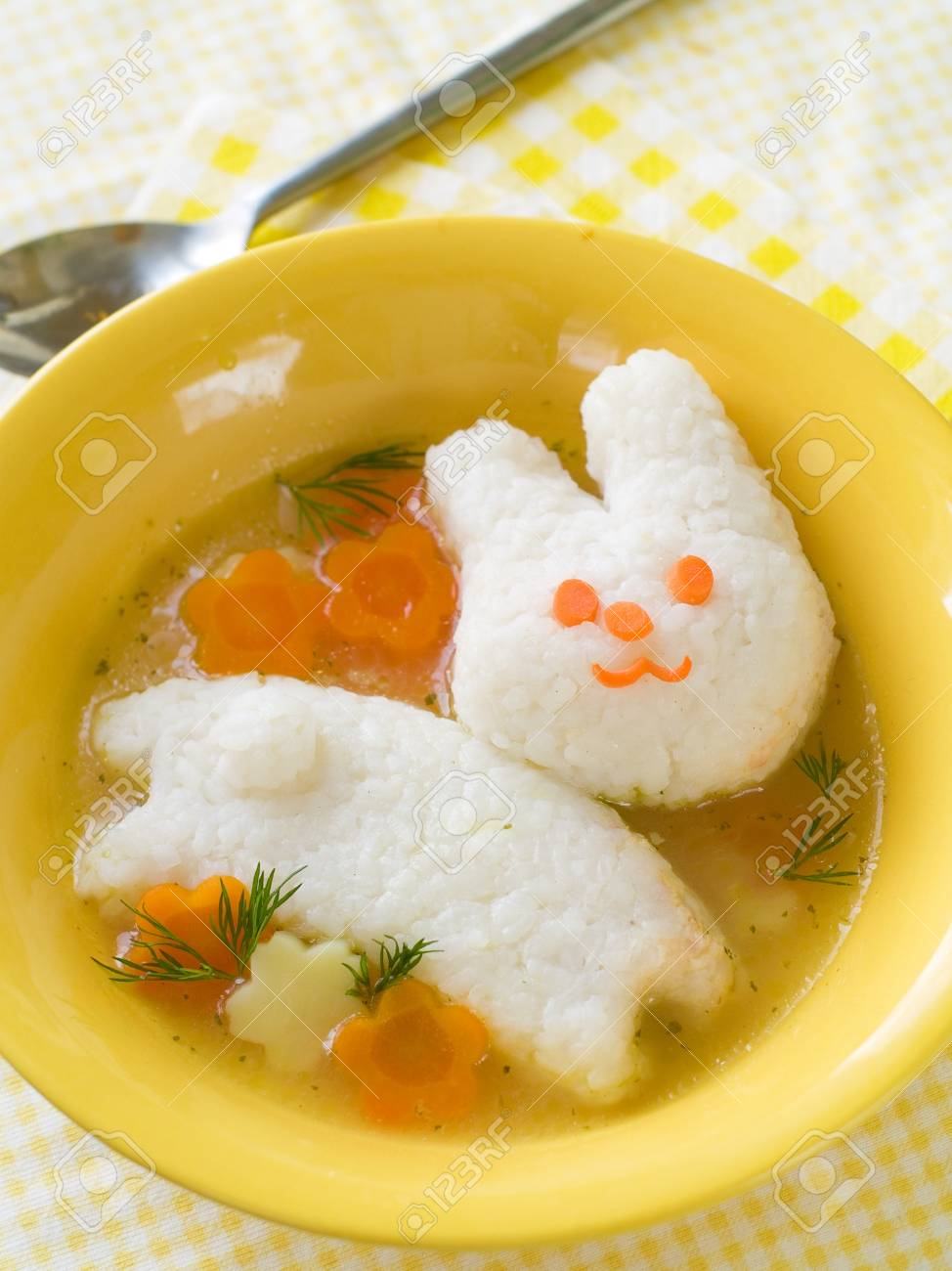 Chicken soup with rice rabbit selective focus shot for a story chicken soup with rice rabbit selective focus shot for a story on homemade forumfinder Choice Image