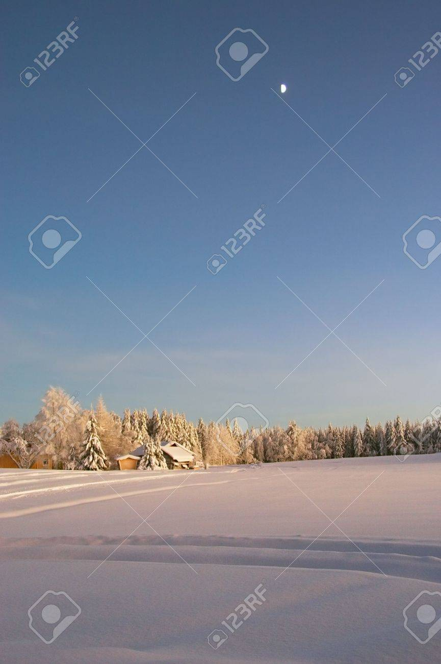 winter evening at countryside Stock Photo - 356990