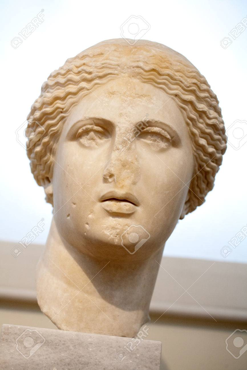 Marble Head Of Aphrodite Goddess Statue