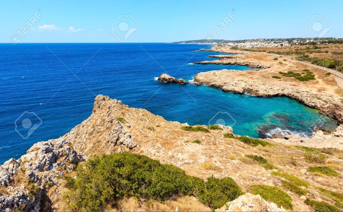 Picturesque Ionian Sea Coast Near Montagna Spaccata Rock, Santa ...