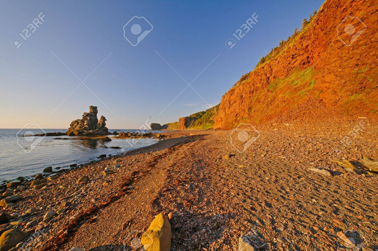Green Gardens Coastal Site in Gros Morne National Park Stock Photo - 15842273