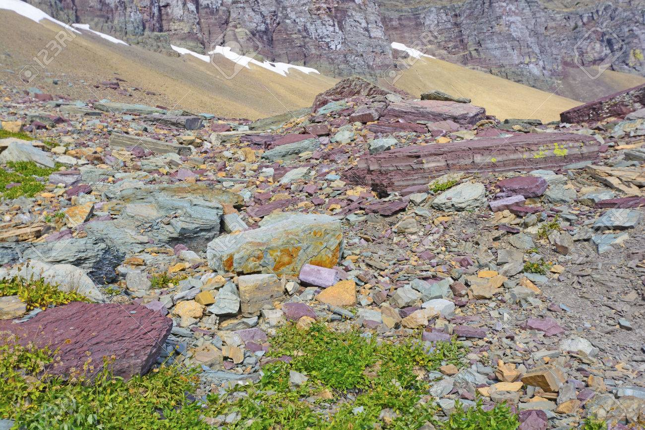 Glacier Lake Montana Rocks