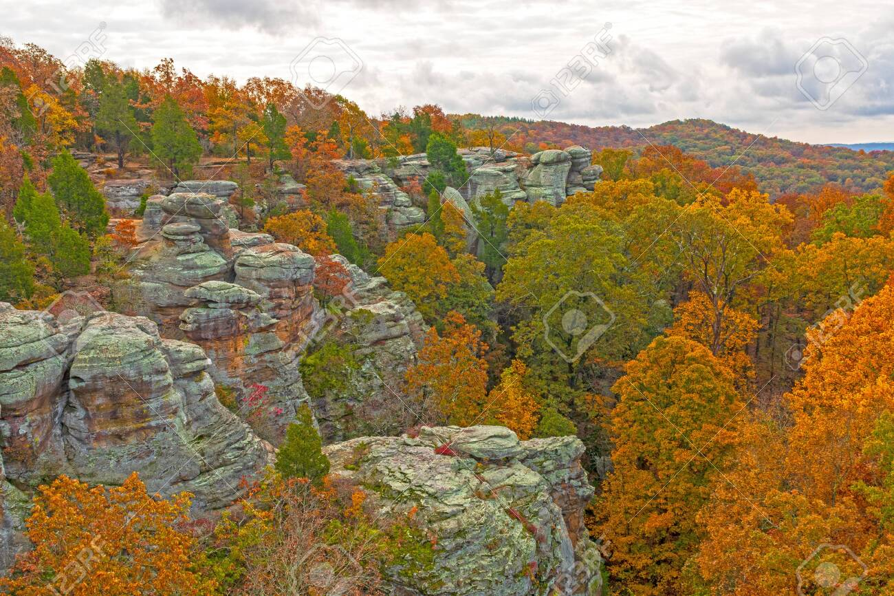 Fall Colors Amongst The Rocky Ridges Of Garden Of The Gods In Stock Photo Picture And Royalty Free Image Image 123512206