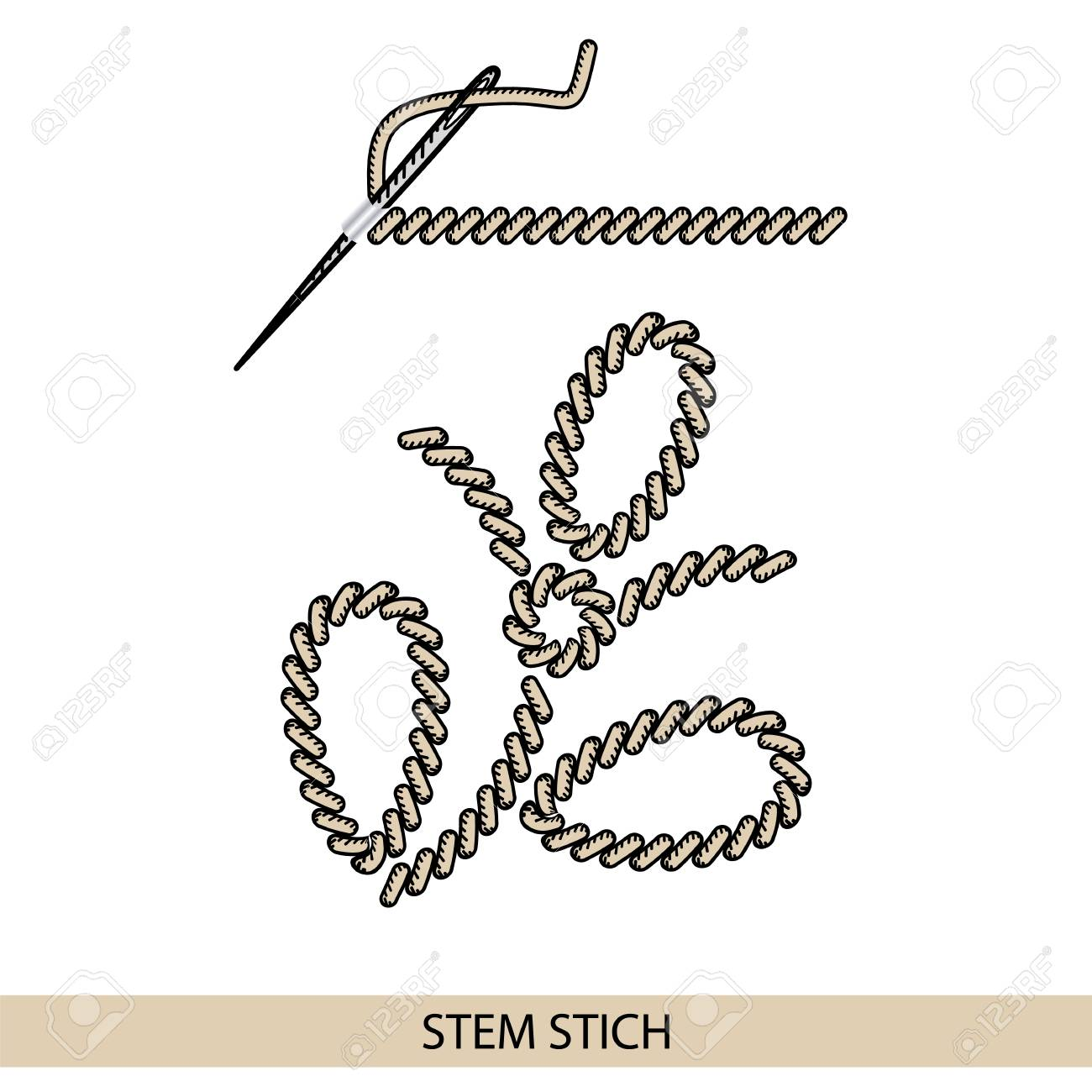 Stitches Back Stich Type Vector Collection Of Thread Hand