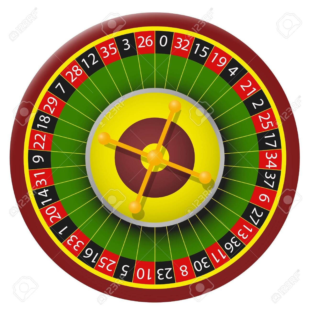 Vector color image roulette. Roulette casino vector isolated image on white background - 151113036