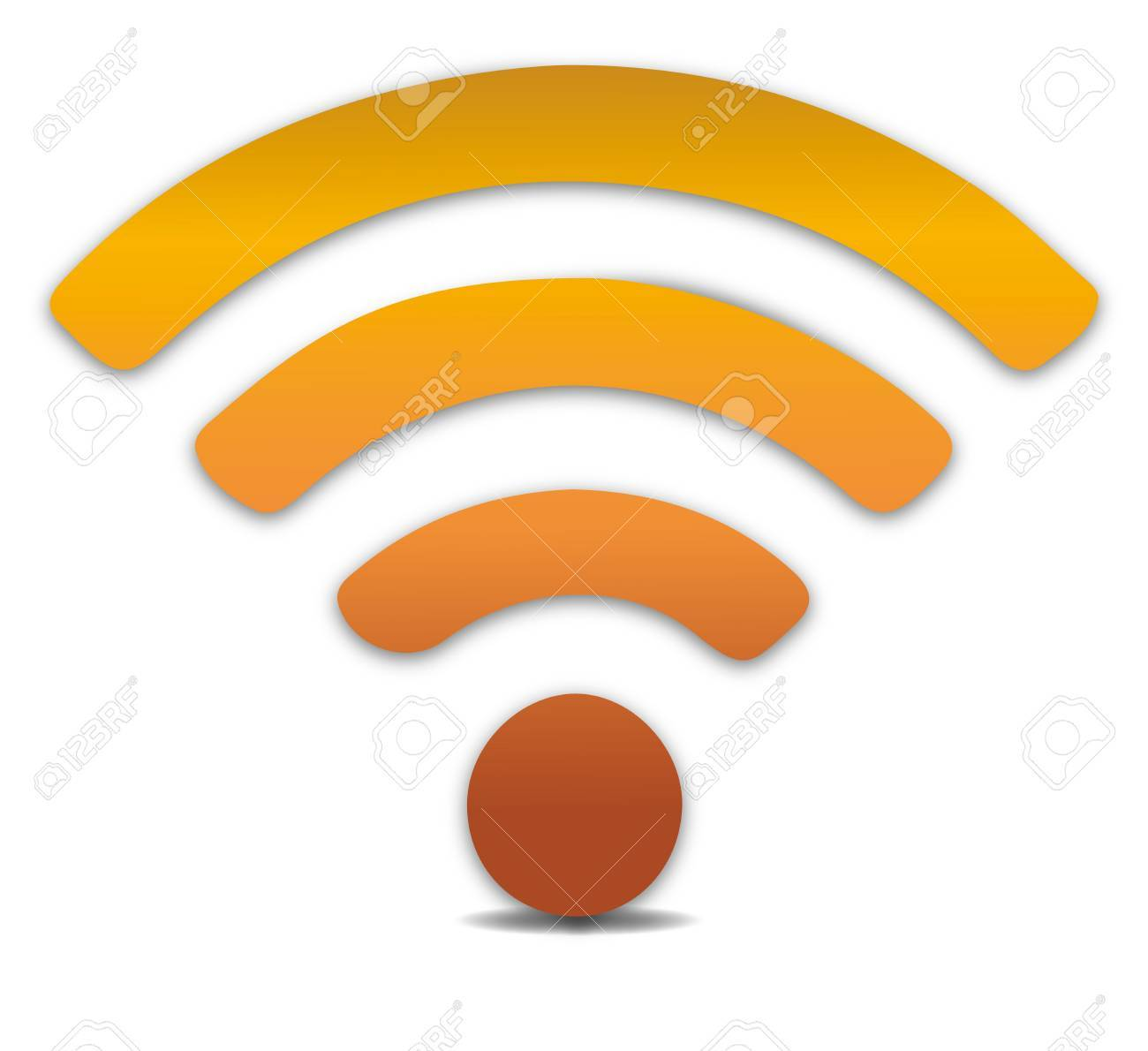 Wireless Icon, Vector. WiFi Icons With Shadow Royalty Free Cliparts ...