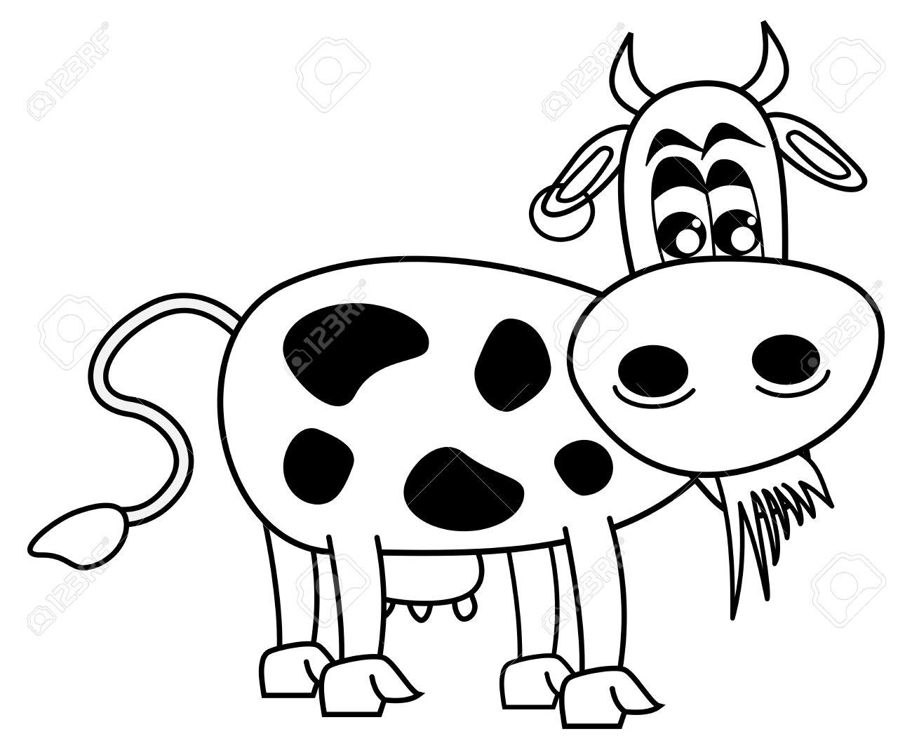 Famoso Páginas Para Colorear De Una Vaca Ilustración - Dibujos Para ...