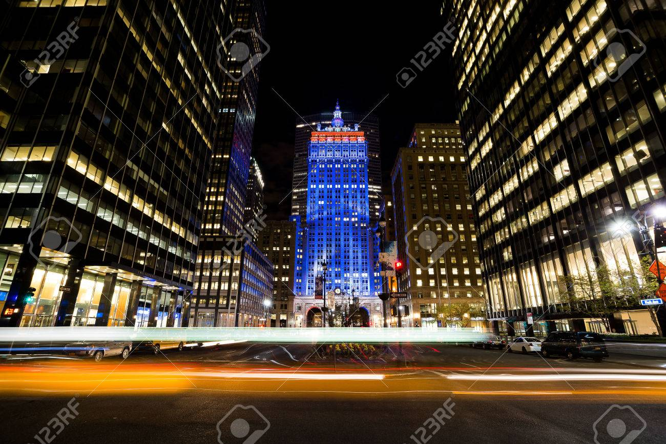 The Helmsley Building was built in 1929 as the New York Central Building  located at 230 Park Avenue. Foto de archivo - 58202366