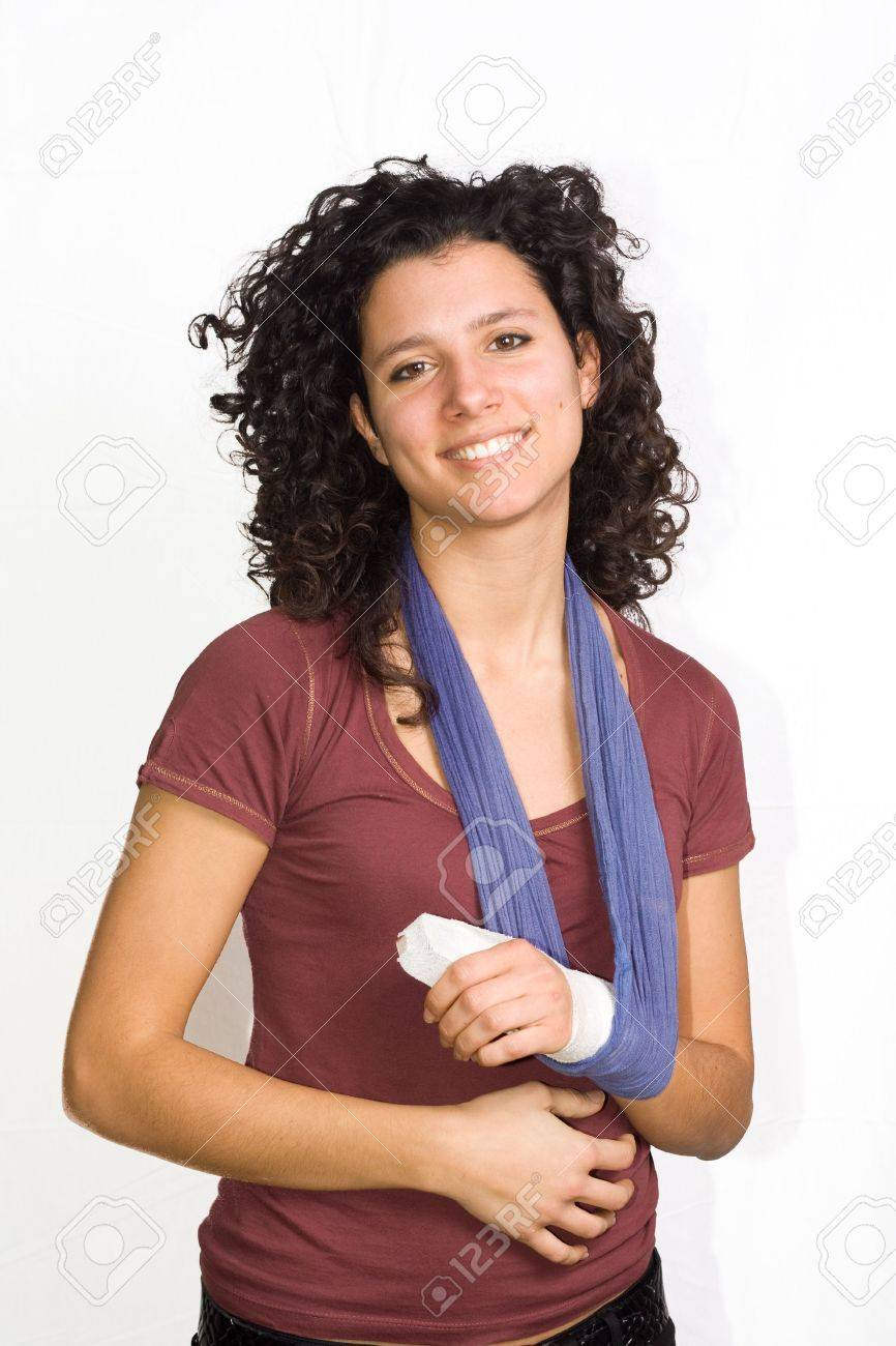 girl with an injured hand Stock Photo - 6520958
