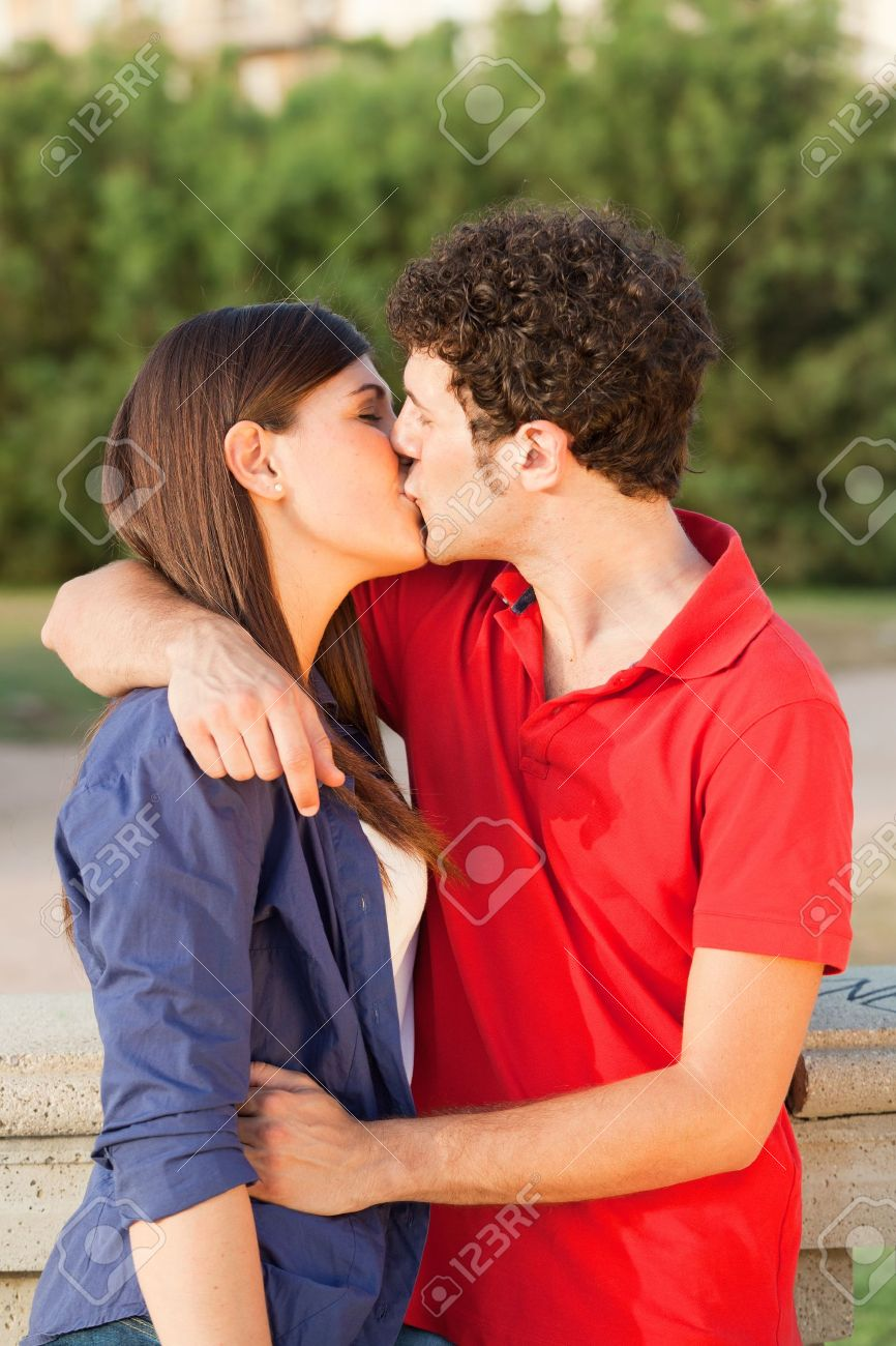 Young Couple Kissing Stock Photo Picture And Royalty Free Image