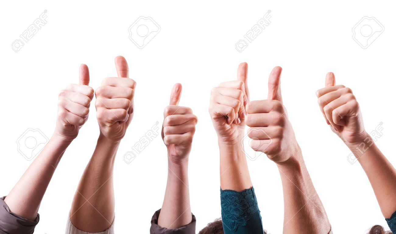 Thumbs Up on White Background - 11841149