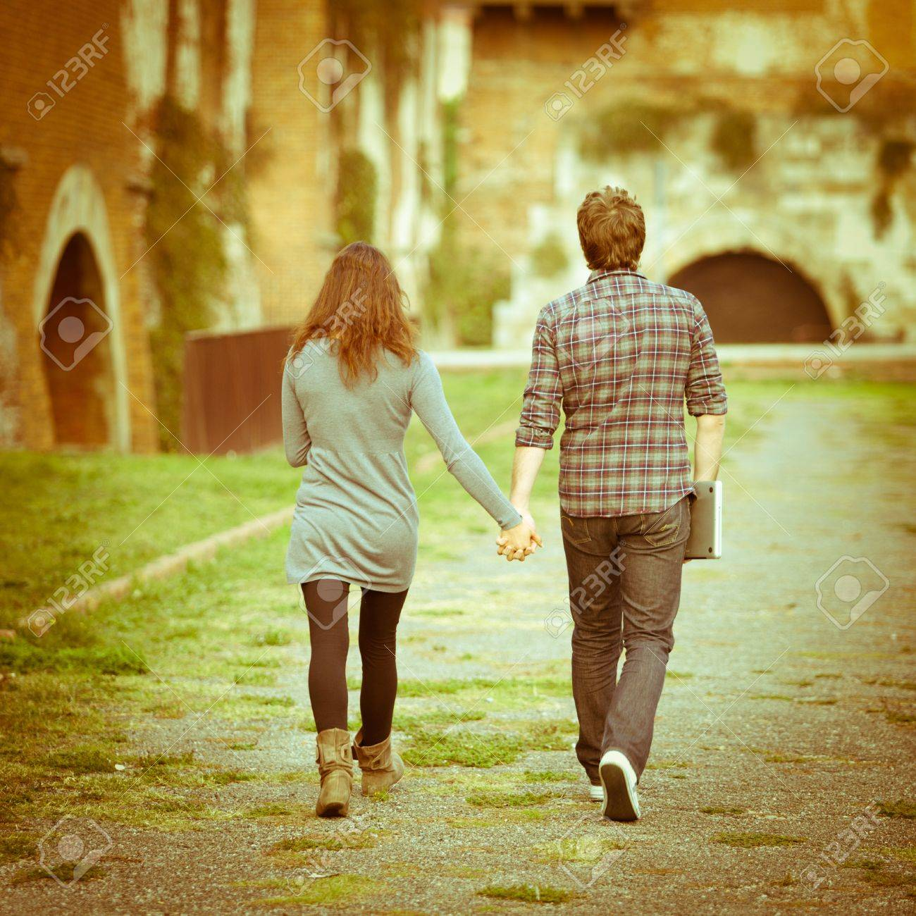 Young Couple At College Stock Photo, Picture And Royalty Free ...