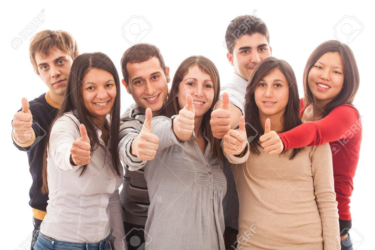 Happy Multiracial Group with Thumbs Up Stock Photo - 13516837