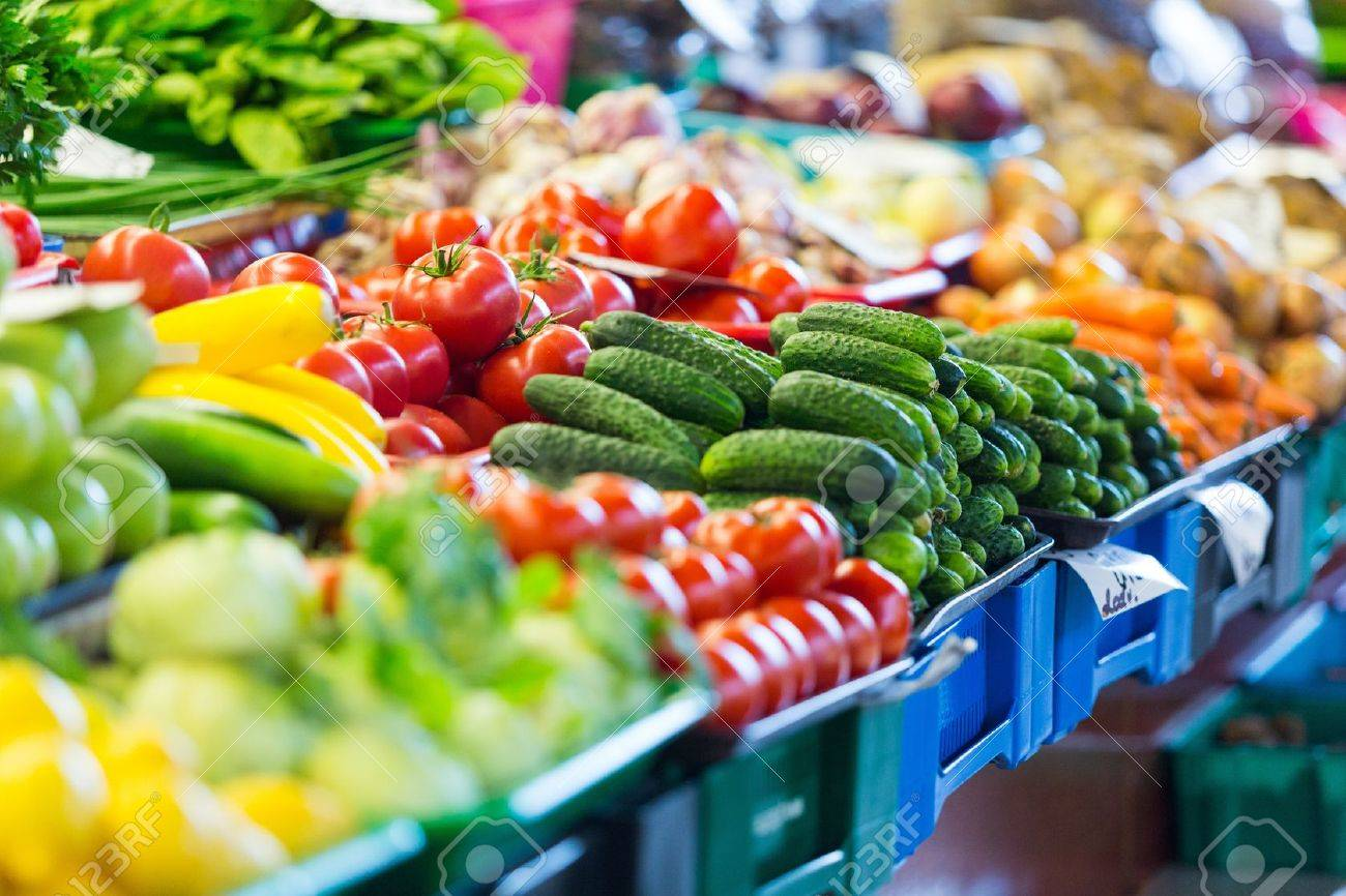 Fruits and Vegetables at City Market in Riga - 21448966