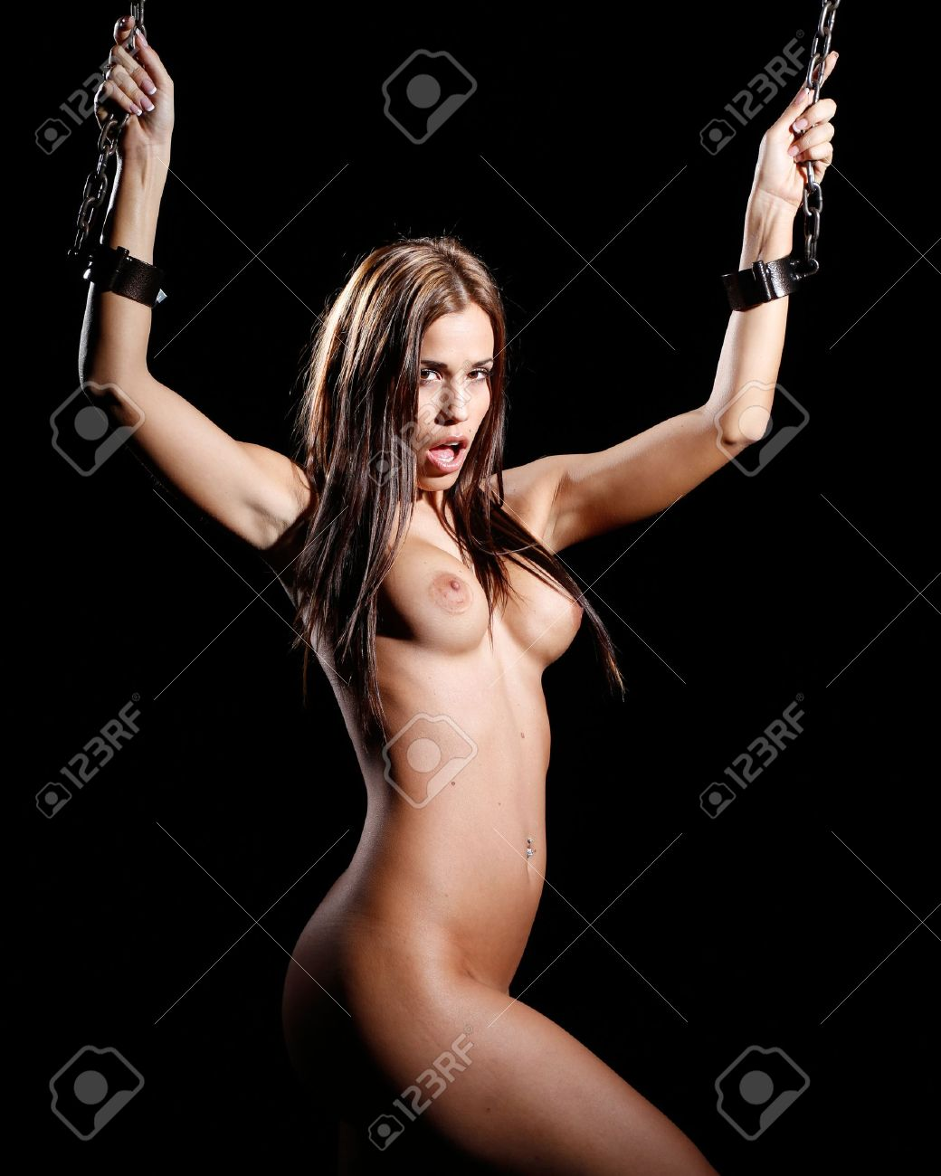 Nude chained art cartoon photo