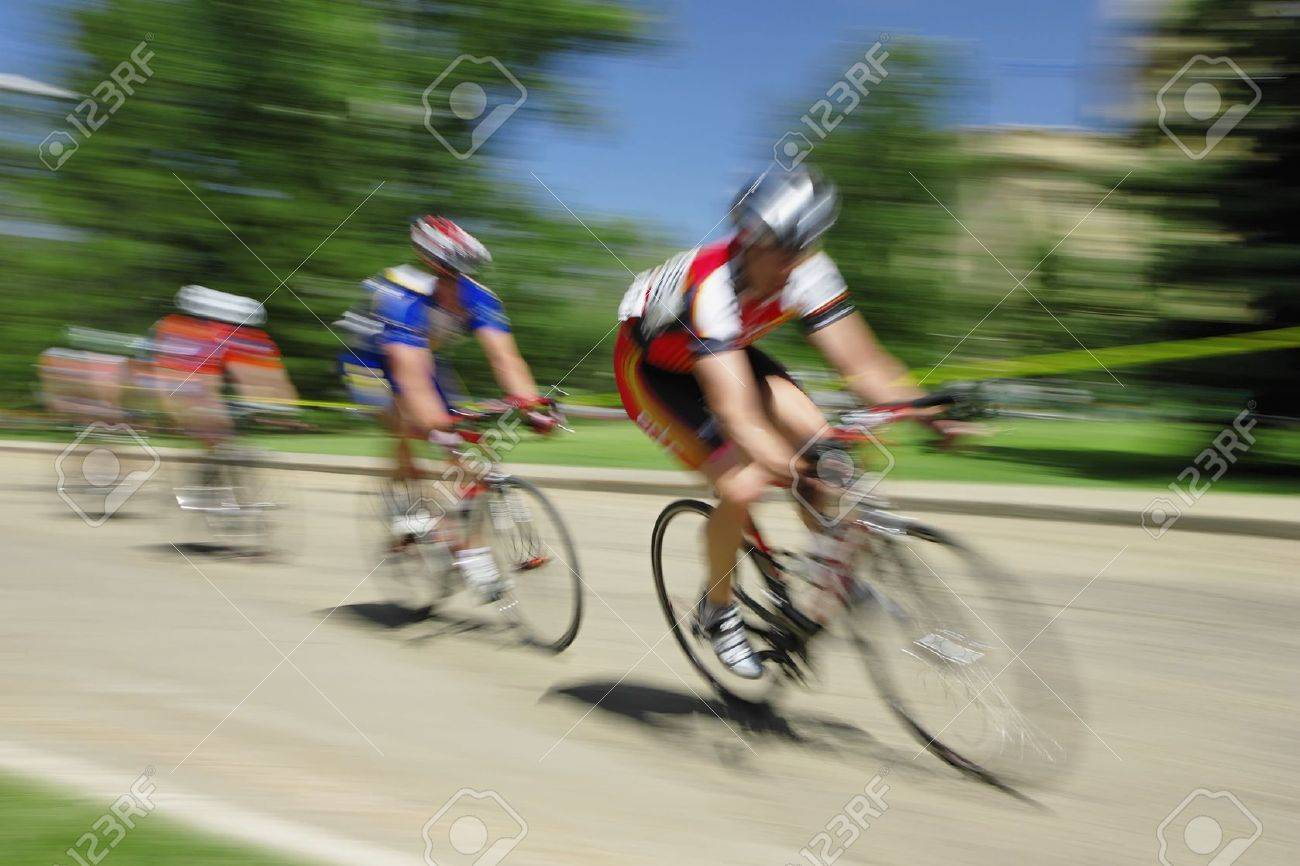 Bicycle race on the grounds of the Alberta Capitol in Edmonton, Alberta. Stock Photo - 5863742