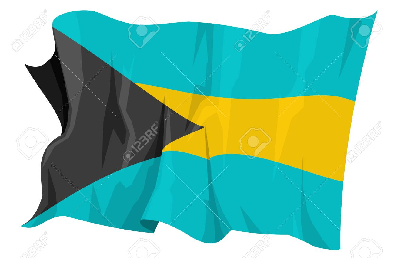 Computer generated illustration of the flag of Bahamas Stock Photo - 3526702