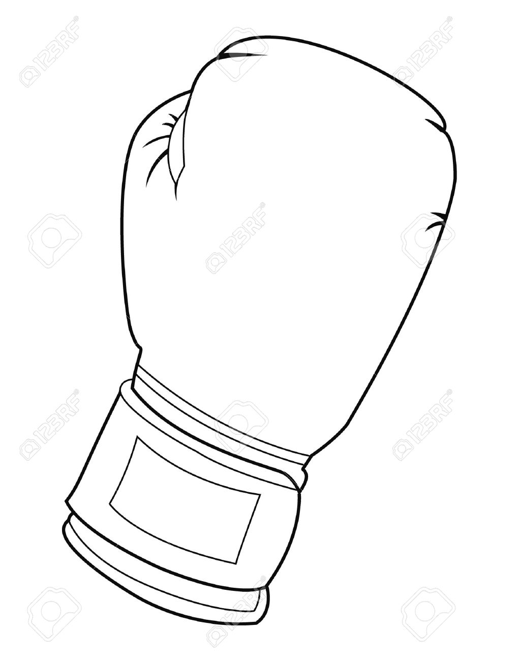 click to see printable version of boxing gloves coloring page ...