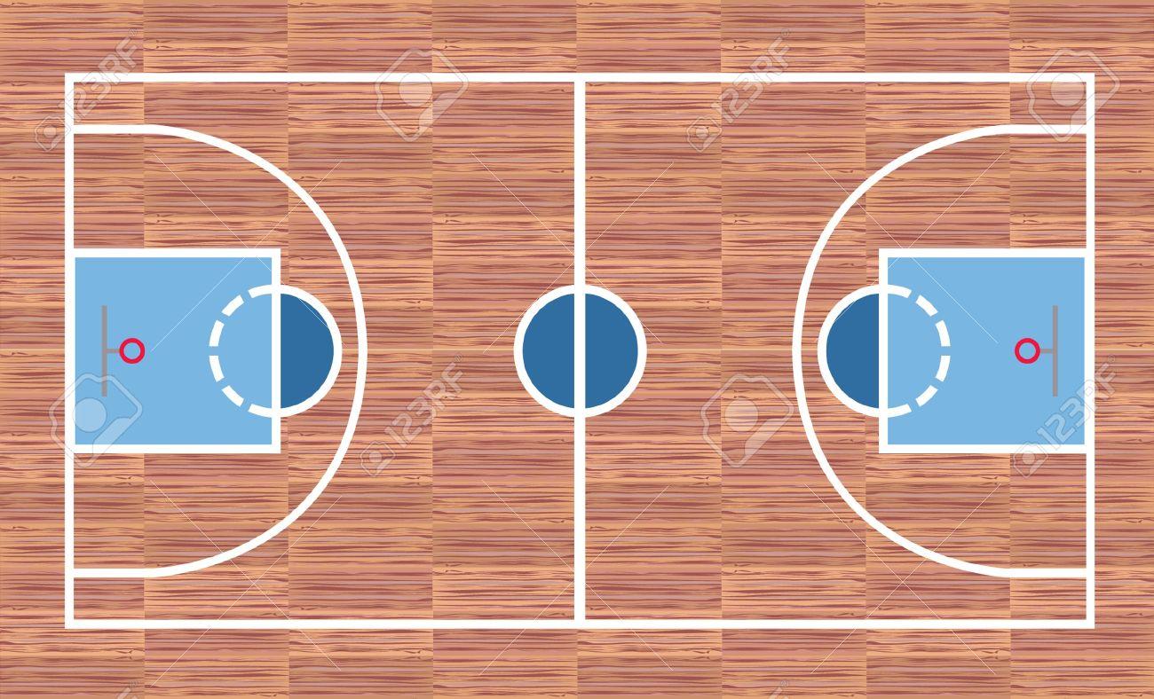 Cancha de baloncesto - vista desde arriba  Foto de archivo - 7916851