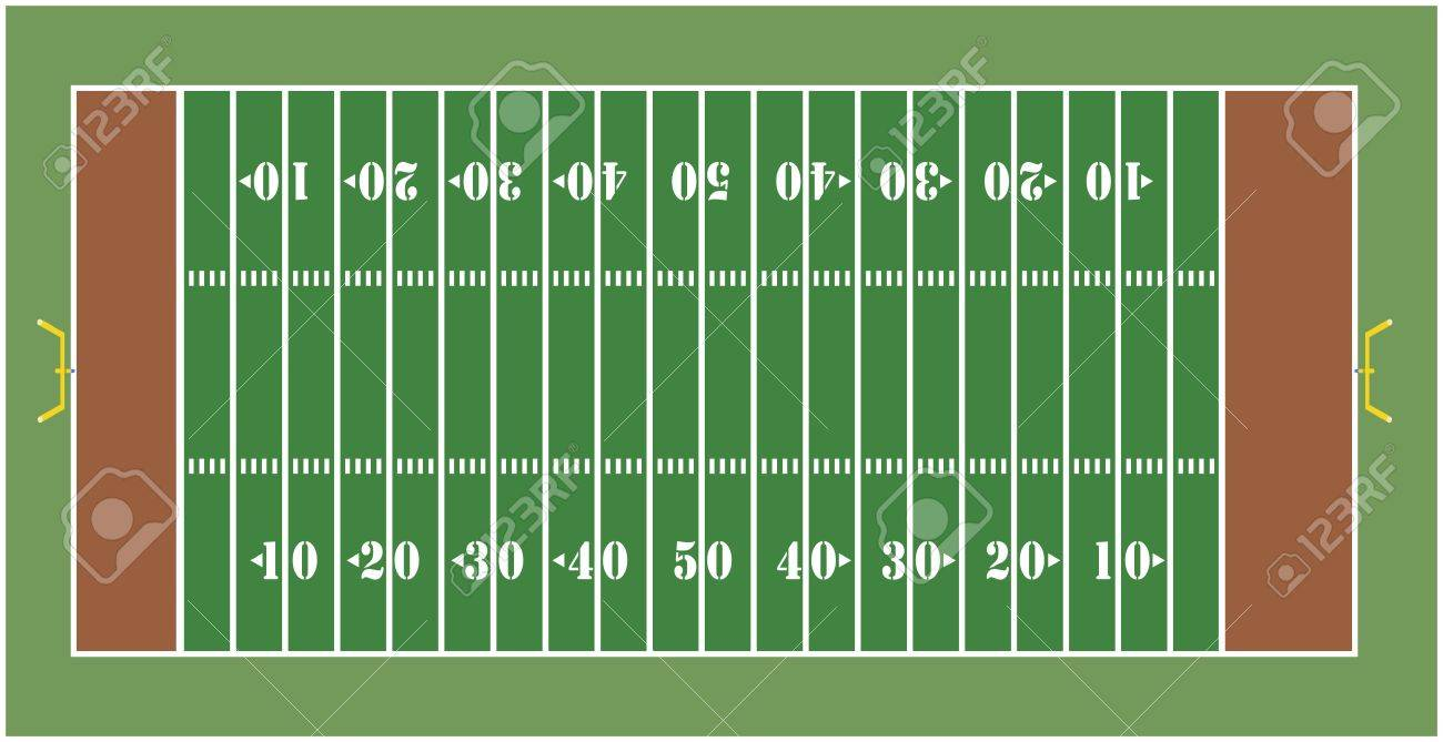 Illustration of an American football field - View from above Stock Photo - 7916853