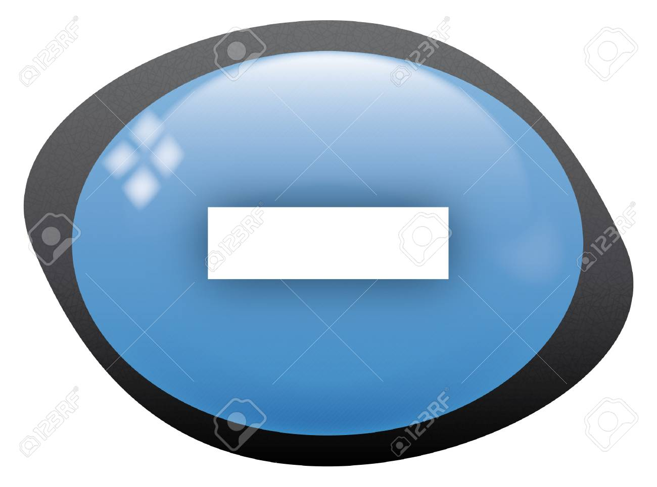 icon oval less Stock Vector - 8304810